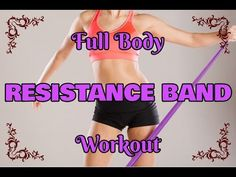 Full Body RESISTANCE BAND Workout/10 min/Pilates - YouTube Fitness Pics, Workout Pictures, Resistance Band Exercises, Full Body, Pilates, Gym Shorts Womens, Beautiful Women, Youtube, Good Looking Women