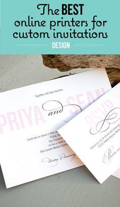 Custom Invitation printing for your wedding invitations, birthday invitation, christmas cards, notecards.
