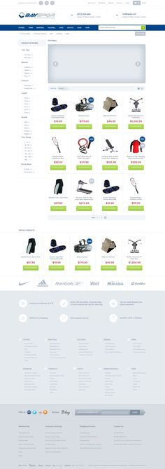 Sports Equipment E Commerce Theme by Emrah Demirağ, via Behance
