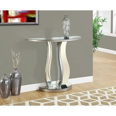 """Monarch Console Table, Brushed Pewter, 36"""" Monarch https://smile.amazon.com/dp/B016B5BSOO/ref=cm_sw_r_pi_dp_x_BslMyb6AJSN3R"""