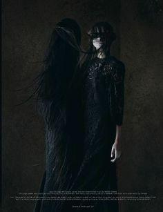 Haute macabre | dark fashion | high fashion editorial | obscure | black