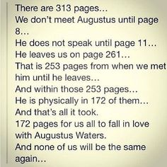 I'm completely and utterly in love with Augustus!