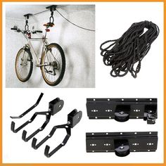 Jrs Pack Of 4 Bike Rack Storage Wall Mount Bicycle Hanger Hook For Indoor Garage