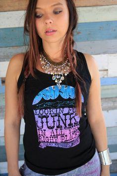 LOOKIN FOR JUNK BLACK TANK - Junk GYpSy co.