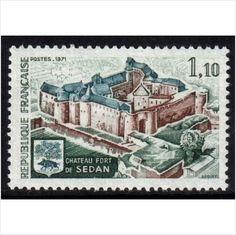 France YT 1686 - Scott 1313, 1971 Chateau Sedan 1f10 MNH** stamps sur le France de eBid