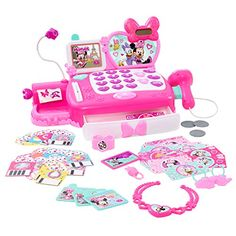 She'll love playing pretend store with this Disney's Minnie Mouse Happy Helpers Shop N' Scan Talking Cash Register. Little Girl Toys, Baby Girl Toys, Toys For Girls, Kids Toys, Little Girls, Minnie Mouse Toys, Toddler Girl Gifts, Toddler Girls, Mouse Color