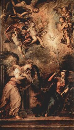 Artist [show]Titian (1490–1576) Link back to Creator infobox template wikidata:Q47551 TitleThe Annunciation Datecirca 1564 Mediumoil on canvas
