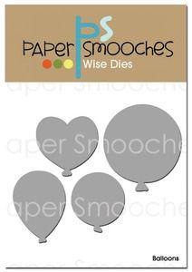 Paper Smooches BALLOONS Wise Dies Kim Hughes
