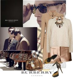 """The total Burberry look!"" by thenia-kazaki ❤ liked on Polyvore"