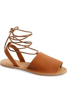 Free shipping and returns on Topshop 'Holly' Lace-Up Sandal (Women) at Nordstrom.com. A leg-flattering lace-up sandal in leather is perfect for summer, especially when it features an open toe for showing off that new pedi.