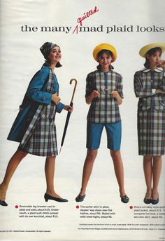 Colleen Corby for Bobbie Brooks, 1964 Seventies Fashion, 60 Fashion, Retro Fashion, Vintage Fashion, Womens Fashion, Ladies Fashion, Vintage 70s, Colleen Corby, Seventeen Magazine