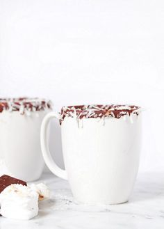 coconut hot chocOlate and almond marshmallows