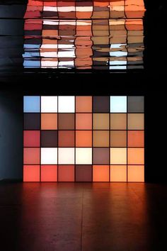 Angela Bulloch. Light art installation.