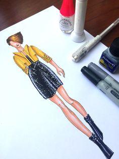 cómo-colorear-un-vestido-de-lentejuelas-paso-a-paso