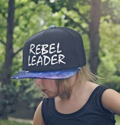 Rebel Leader Galaxy Space Embroidered Snapback Hat for Adult and Youth
