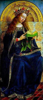 Reading and Art: Jan van Eyk, The Ghent altarpiece Virgin Mary