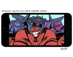 Knockout selfie with prime member series ⑳!!KNOCKOUT & VEHICONS.