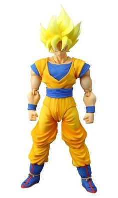"Bandai Tamashii Nations Super Saiyan Son Goku ""Dragonball Z"" S.H. Figuarts Action Figure by Bandai Tamashii Nations. $107.45. From the Manufacturer                In response to popular demand, Tamashii Nations is proud to announce a limited re-issue of the popular S.H.Figuarts Super Saiyan Goku.                                    Product Description                Not only is this 6 inch action figure incredibly poseable, its also accurately sculpted in sharp detail to its ..."