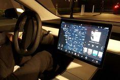 Tesla Model 3 interior, young, futuristic and classy
