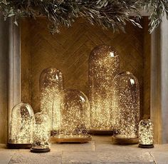 Best Winter Wedding Decorations Ever - fairy lights in domes, DIY wedding globes