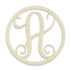 Unfinished Wood Co. Single Letter Circle Monogram Hanging Initial & Reviews | Wayfair