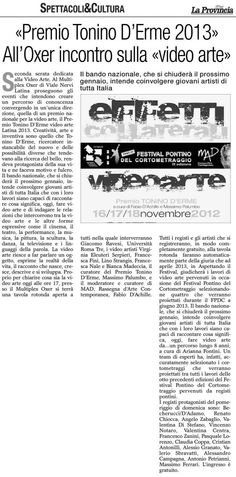 EFFETTI COLLATERALI, videoart symposium with Francesca Fini among the others, for Tonino D'Erme film festival, 2013.
