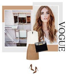 """Camel leather skirt"" by s-thinks ❤ liked on Polyvore featuring мода, Zara, Derek Lam, Lipsy, Christian Louboutin, Balenciaga, Leather, Heels, animalprint и camel"