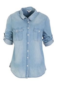 Wite Chambray Shirt - Womens Shirts - Birdsnest Buy Online