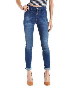 """REFUGE """"Hi Waist Skinny"""" Jeans: Charlotte Russe"""