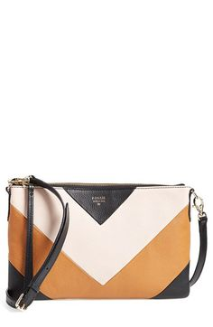 Fossil 'Sydney' Top Zip Leather Crossbody Bag available at #Nordstrom