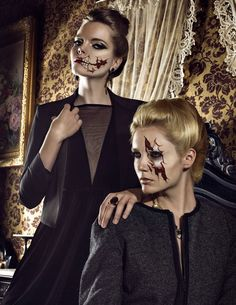 Production: Miquel Mateos Photography: Malize Photography  Dazigned Stylist: Jonathan Len Models: Beatrice and Patrycja G. @ Trend Models Hair: Daniel Garca Makeup: Marta Vicen FX Makeup  Prosthetics: Monica Mansilla Post: GoaRetouch sfx special effects #specialfx #specialeffects makeup #face effects #unwoundfx