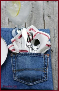 Recycled Jeans Crafts | Recycled+Jeans+Crafts | Recycled Jeans Into Placemats ~ | Fabric ...