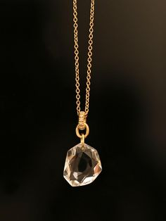 H.Stern 18KT Yellow Gold Rock Crystal and Diamond Pendant from the Diane  von Furstenberg Collection. Diamonds approximately .04ct total weight.   1,700.00 f223dadddb8d