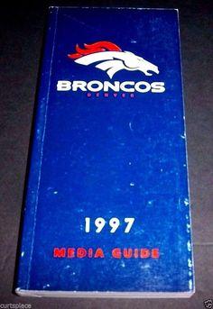 Original 1997 DENVER BRONCOS Football Media Guide Player and Staff Illustrated