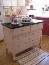 96 Best Old Dresser Into Kitchen Island Images Kitchen