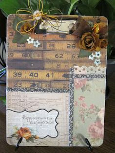 altered clipboard or frames from Dollar Tree with no edges Clipboard Crafts, Paper Crafts, Diy Crafts, Christmas Gift For You, Craft Markets, Altered Bottles, Simple Gifts, Craft Party, Craft Fairs