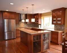 Shaker Style Kitchens Design with light counters