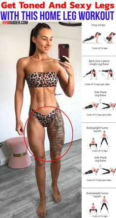 Find your perfect workout plan. Read fitness articles & learn how to lose belly fat, how to gain muscle, how to sleep better, & learn about nutrition. Leg Workout At Home, Gym Workout Tips, Fitness Workout For Women, Workout Regimen, Body Fitness, Workout Challenge, Workout Videos, At Home Workouts, Butt Workouts