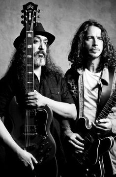 Kim Thayil and Chris Cornell of Soundgarden  #chriscornell #soundgarden #audioslave