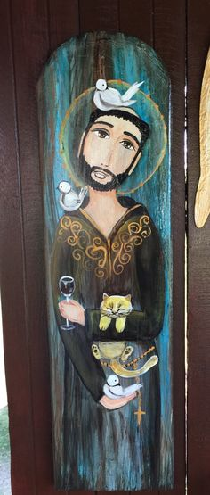 Catholic Art, Catholic Saints, Religious Images, Religious Art, St Francisco, St Pio Of Pietrelcina, Southwestern Art, Francis Of Assisi, Arte Popular