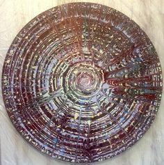 "Emin Özdemir — ""Section"" rotational oscillation, acrylicpaint, Fractals, Decorative Plates, Mandala, Digital Art, Rugs, Handmade, Home Decor, Farmhouse Rugs, Hand Made"