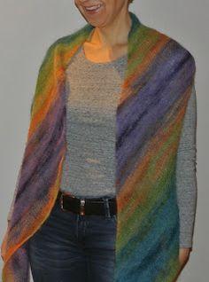 Schal aus Silkhair Print