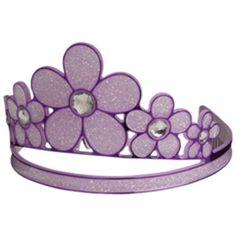 Purple Glitter Flower Tiara