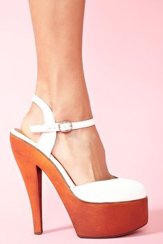 70s or not, these platforms are white hot.   Blanco Platform by Jeffery Campbell