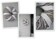 DIY kranssi. Hanukkah, Craft Ideas, Wreaths, Crafts, House, Home Decor, Manualidades, Decoration Home, Door Wreaths