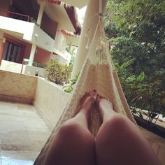 Afternoon siesta #hammocklife #vivalamexico #grandpalladiumkantenah by @alilafrance