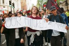 Hundreds descended on Downing Street to protest another five years of Conservative rule and austerity government: http://www.dazeddigital.com/artsandculture/article/24693/1/we-went-to-the-first-anti-tory-protest-since-the-election