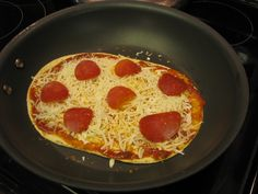 Fast and Easy Low Calorie Meals...has recipe for this skillet pizza.  Looks yum!