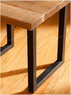 Metal Table Legs, Metal Screen, Mountain Living, Diy Bar, Table Height, Stainless Steel Material, Metal Furniture, Blue Ridge, Table Bench