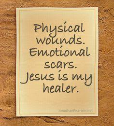 Jesus heals.